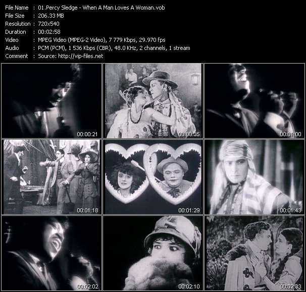 Screenshot of Music Video Percy Sledge - When A Man Loves A Woman
