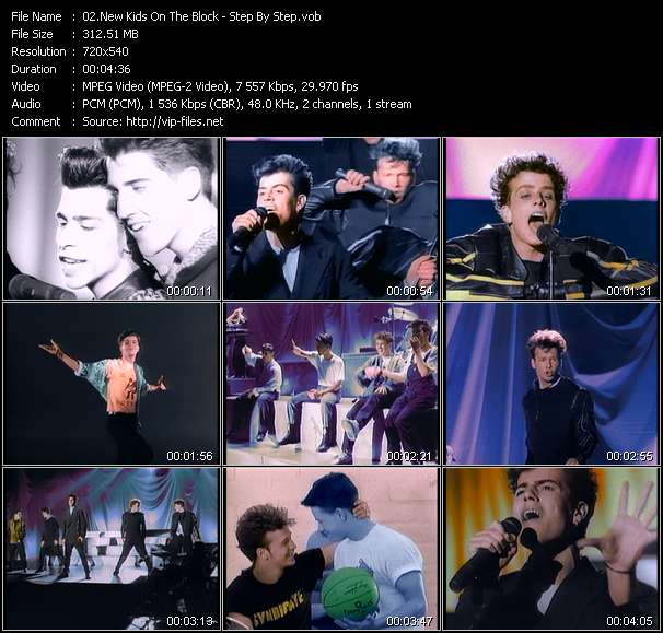 Screenshot of Music Video New Kids On The Block - Step By Step