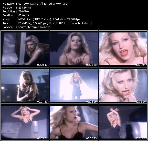 Screenshot of Music Video Taylor Dayne - I'll Be Your Shelter