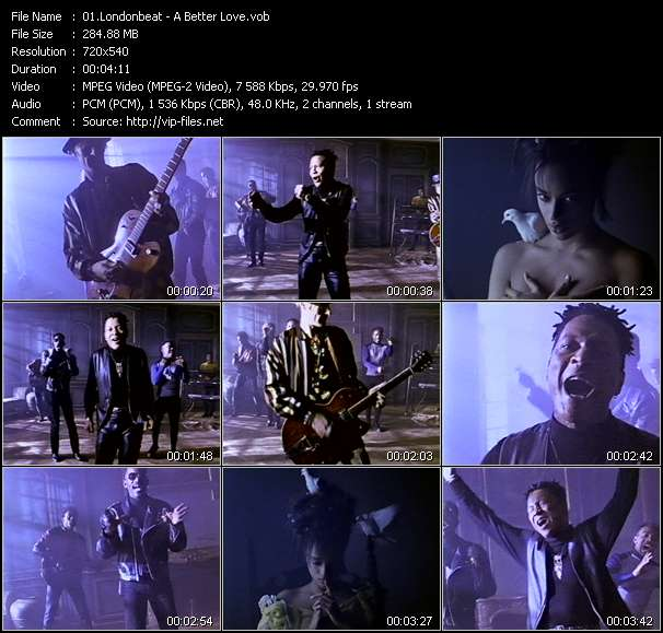 Screenshot of Music Video Londonbeat - A Better Love