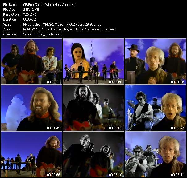 Screenshot of Music Video Bee Gees - When He's Gone