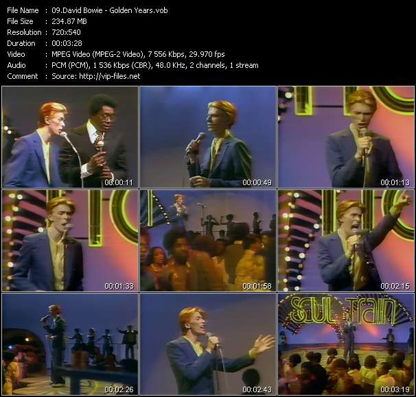 Screenshot of Music Video David Bowie - Golden Years