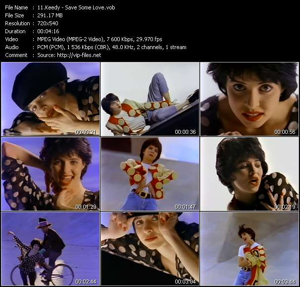 Screenshot of Music Video Keedy - Save Some Love