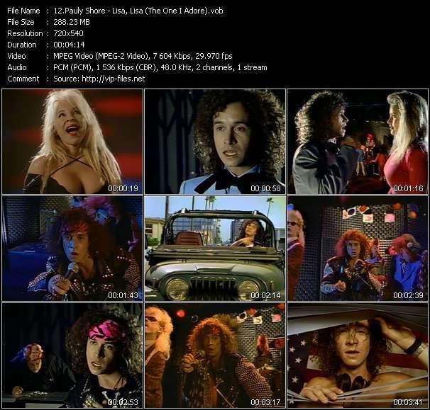 Screenshot of Music Video Pauly Shore - Lisa, Lisa (The One I Adore)