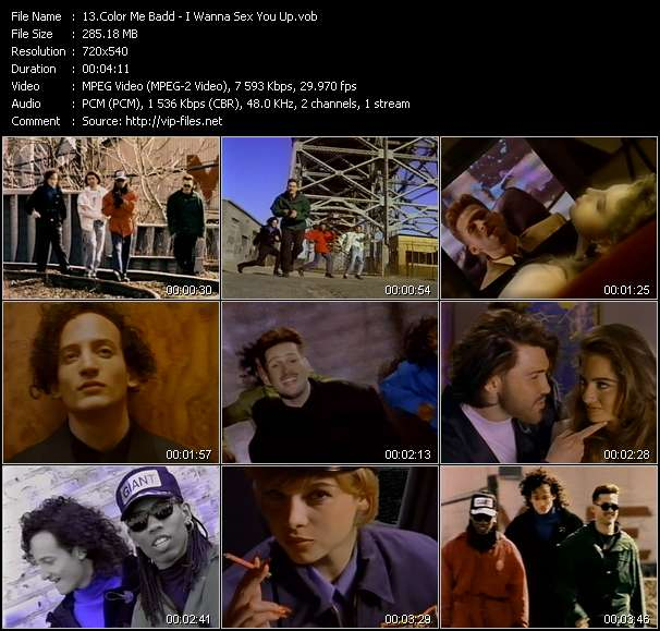 Screenshot of Music Video Color Me Badd - I Wanna Sex You Up