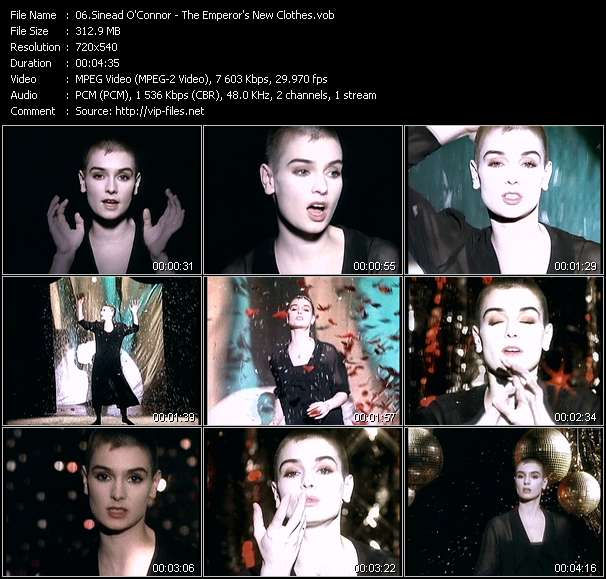 Screenshot of Music Video Sinead O'Connor - The Emperor's New Clothes