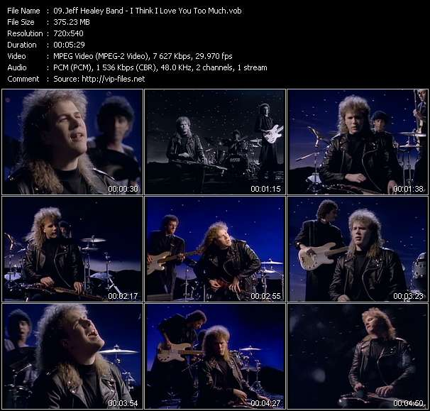 Screenshot of Music Video Jeff Healey Band - I Think I Love You Too Much