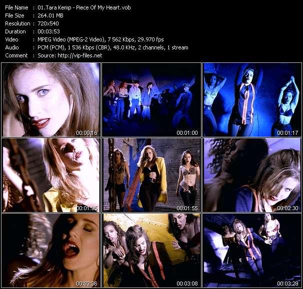 Screenshot of Music Video Tara Kemp - Piece Of My Heart