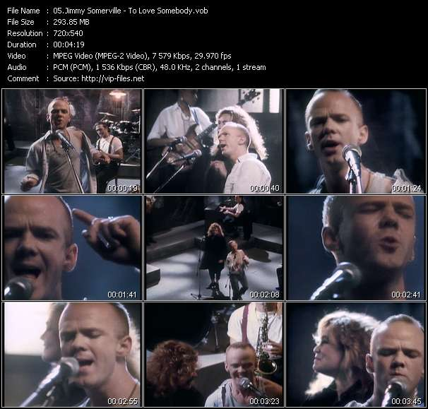 Screenshot of Music Video Jimmy Somerville - To Love Somebody