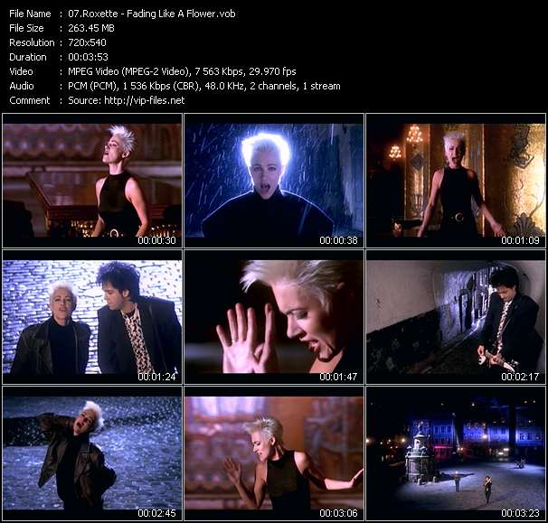 Screenshot of Music Video Roxette - Fading Like A Flower