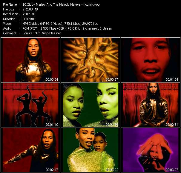 Screenshot of Music Video Ziggy Marley And The Melody Makers - Kozmik