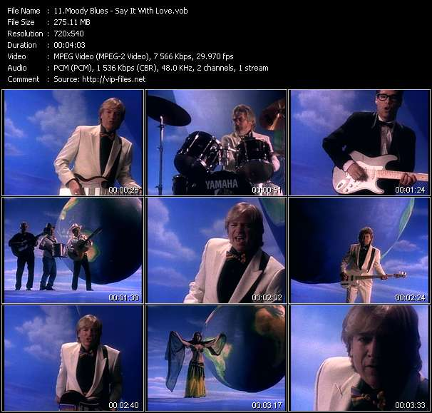 Screenshot of Music Video Moody Blues - Say It With Love