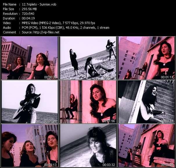 Screenshot of Music Video Triplets - Sunrise