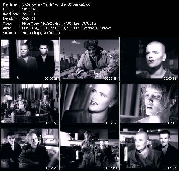 Screenshot of Music Video Banderas - This Is Your Life (US Version)