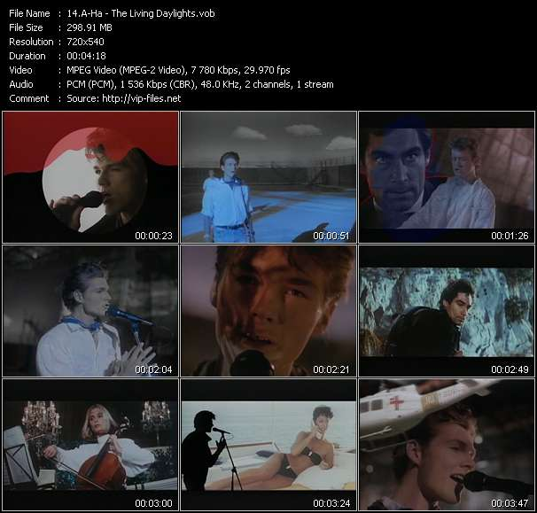A-Ha video vob