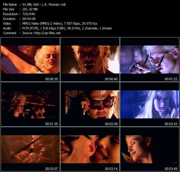 Screenshot of Music Video Billy Idol - L.A. Woman