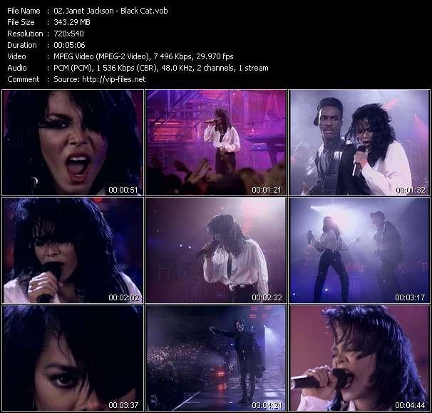 Screenshot of Music Video Janet Jackson - Black Cat