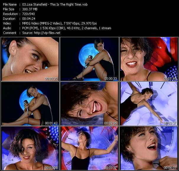 Screenshot of Music Video Lisa Stansfield - This Is The Right Time
