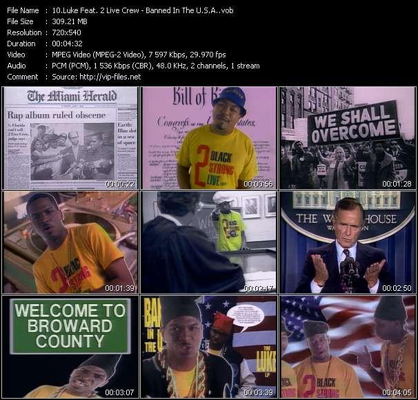Screenshot of Music Video Luke Feat. 2 Live Crew - Banned In The U.S.A.