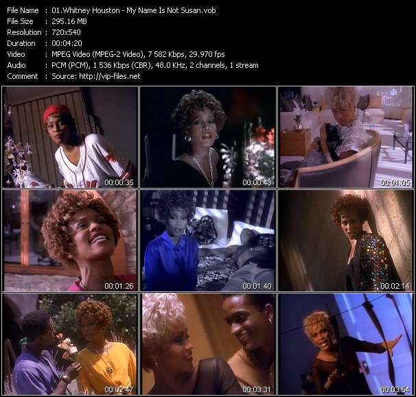 Screenshot of Music Video Whitney Houston - My Name Is Not Susan