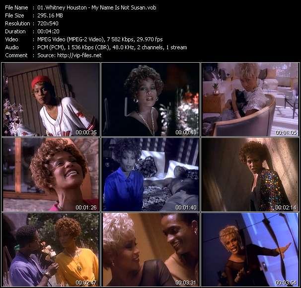 Whitney Houston clips musicaux vob