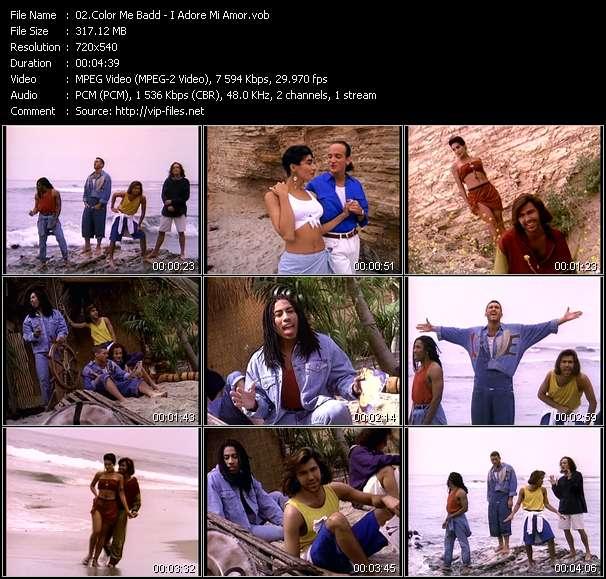 Screenshot of Music Video Color Me Badd - I Adore Mi Amor