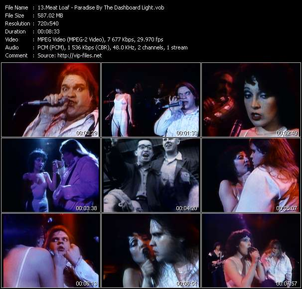 Screenshot of Music Video Meat Loaf - Paradise By The Dashboard Light