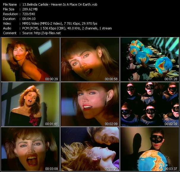 Belinda Carlisle video vob