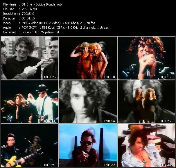 Screenshot of Music Video Inxs - Suicide Blonde
