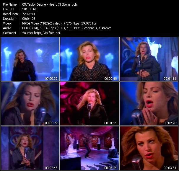 Screenshot of Music Video Taylor Dayne - Heart Of Stone