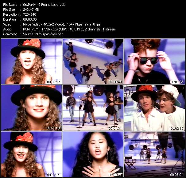 Screenshot of Music Video Party - I Found Love