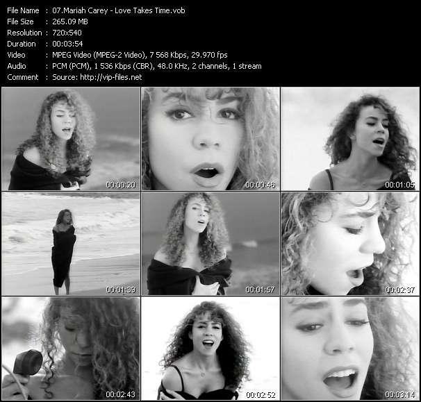 Screenshot of Music Video Mariah Carey - Love Takes Time