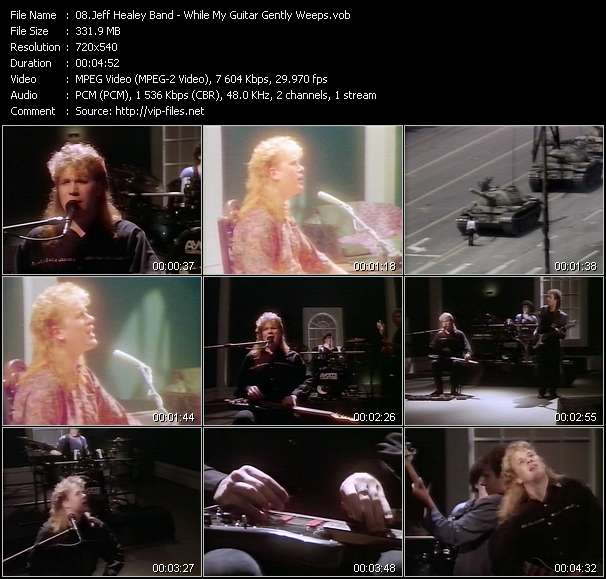 Screenshot of Music Video Jeff Healey Band - While My Guitar Gently Weeps