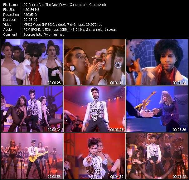 Prince And The New Power Generation видеоклип vob