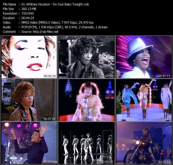 Screenshot of Music Video Whitney Houston - I'm Your Baby Tonight