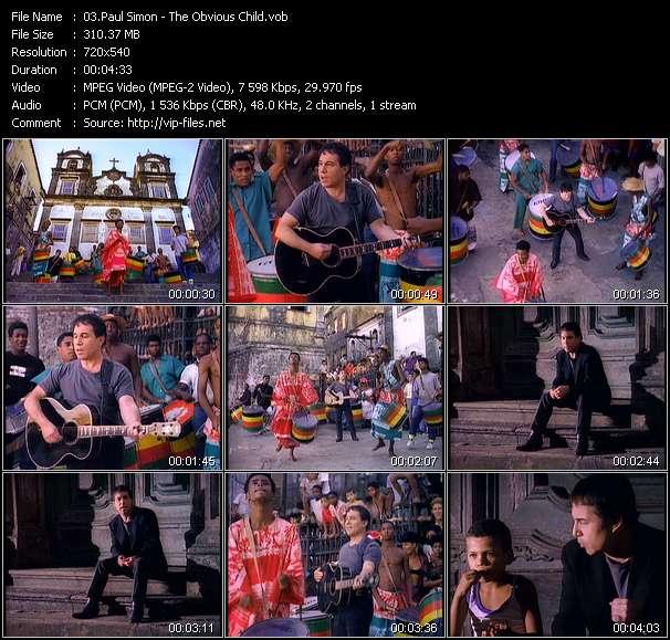 Screenshot of Music Video Paul Simon - The Obvious Child
