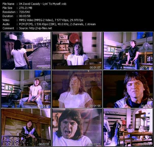 Screenshot of Music Video David Cassidy - Lyin' To Myself