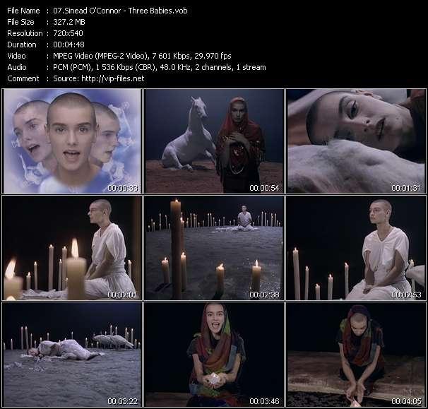 Screenshot of Music Video Sinead O'Connor - Three Babies