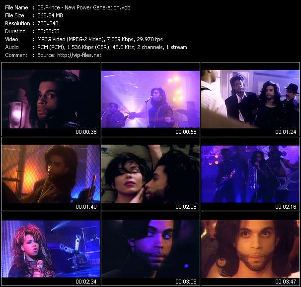 Screenshot of Music Video Prince - New Power Generation