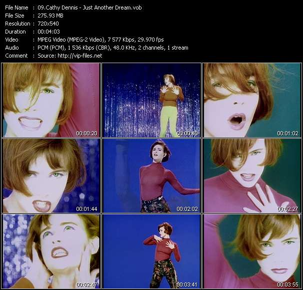 Screenshot of Music Video Cathy Dennis - Just Another Dream