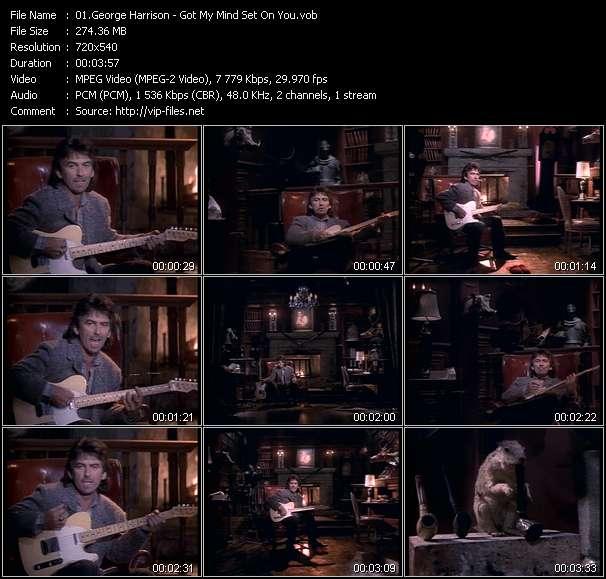 Screenshot of Music Video George Harrison - Got My Mind Set On You