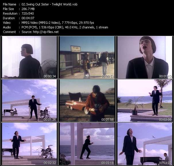 Screenshot of Music Video Swing Out Sister - Twilight World