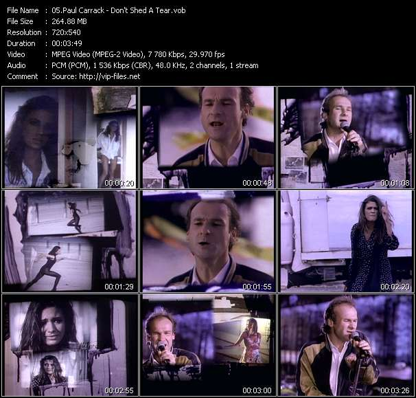 Screenshot of Music Video Paul Carrack - Don't Shed A Tear