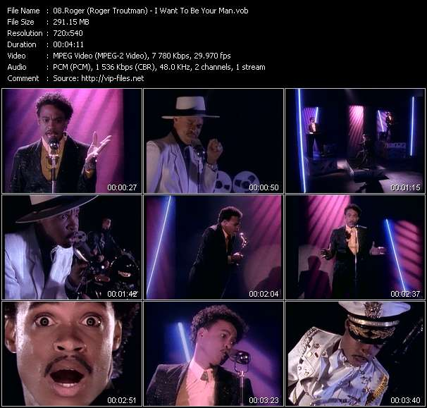 Screenshot of Music Video Roger (Roger Troutman) - I Want To Be Your Man