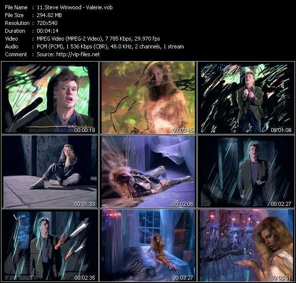 Screenshot of Music Video Steve Winwood - Valerie