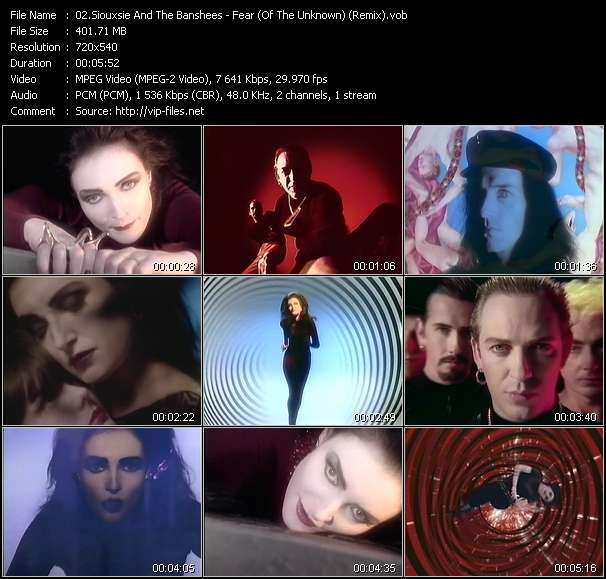 Screenshot of Music Video Siouxsie And The Banshees - Fear (Of The Unknown) (Remix)