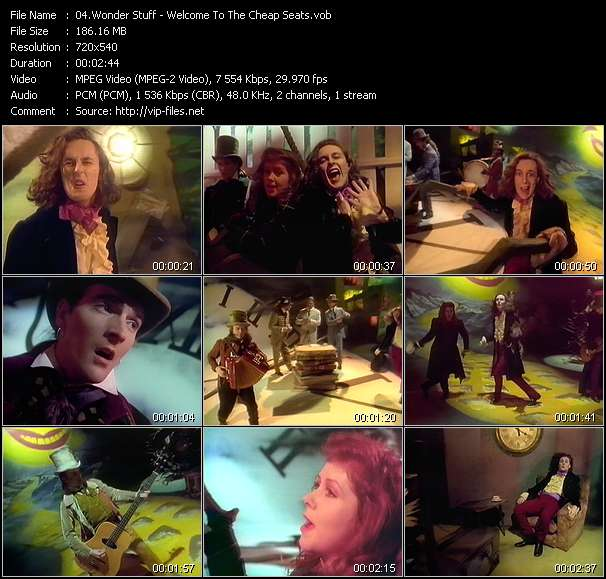 Screenshot of Music Video Wonder Stuff - Welcome To The Cheap Seats