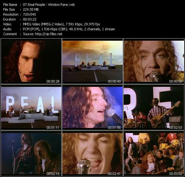 Screenshot of Music Video Real People - Window Pane