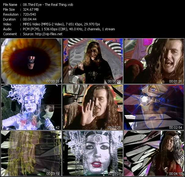 Screenshot of Music Video Third Eye - The Real Thing