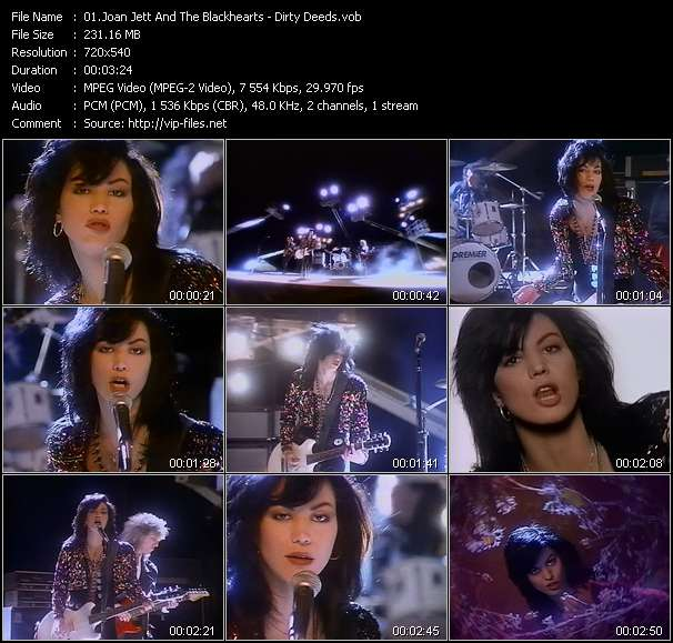 Joan Jett And The Blackhearts video vob